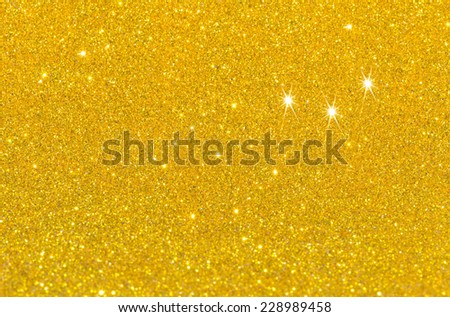 Twinkly golden Lights Christmas Background - stock photo