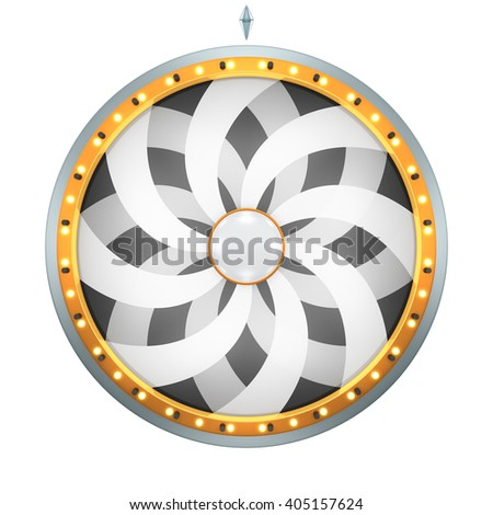 Twirl flower graphic with Wheel of fortune create by 3D illustration. This graphic is isolated on white background - stock photo