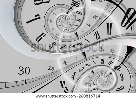 Twisted Time Abstract Time Concept Illustration. - stock photo