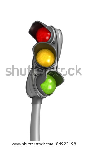 Twisted Traffic Lights - stock photo