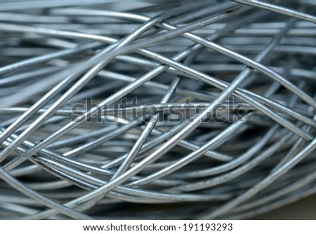 Twisted wire closeup