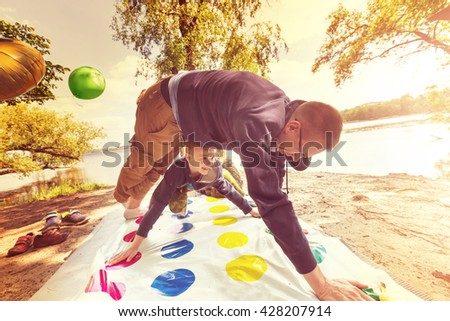 Twister game - stock photo