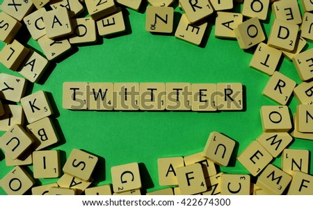 Twitter letters - stock photo