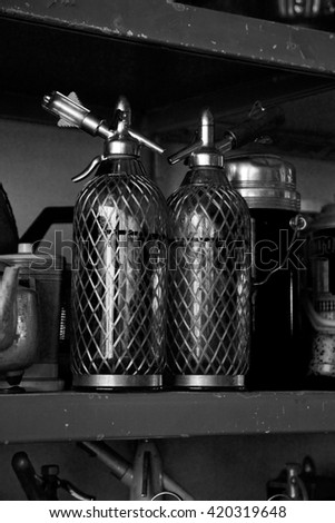 two ancient siphon - stock photo