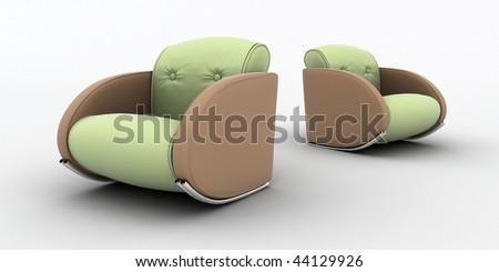Two armchairs - stock photo