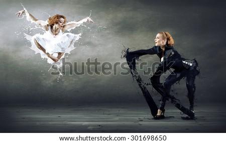 Two ballerines - stock photo