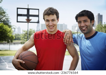 Two Basketball Players - stock photo