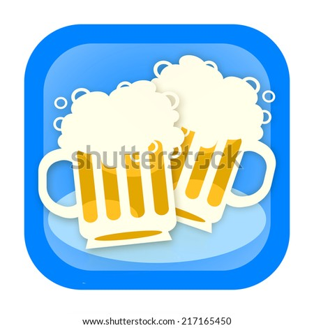 Two beer, cheers - stock photo