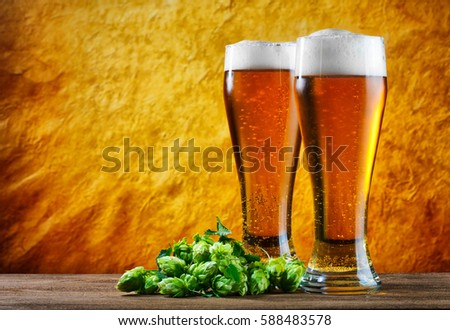 Two beer glass