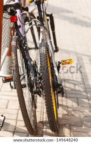 two bicycles - stock photo