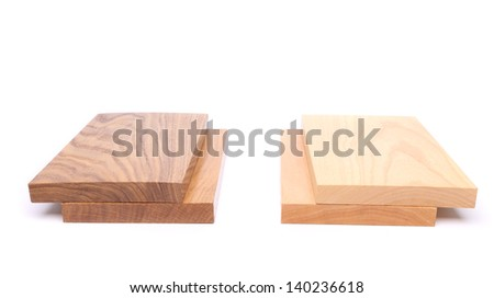 Two boards (acacia, oak) and two boards (elm, lime)
