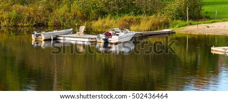 Two boats at the dock