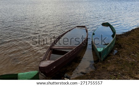 Two boats on the lake