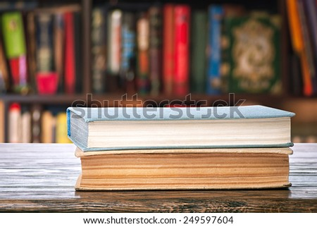 Two books - stock photo