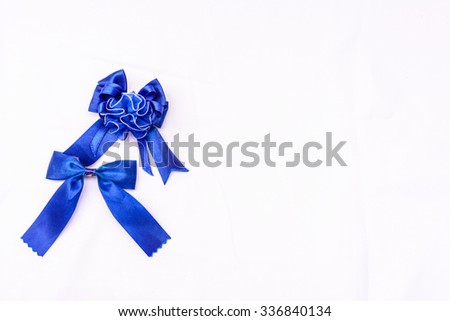 Two bows with white background