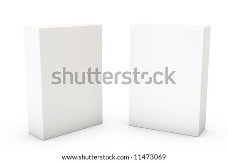 Two boxes isolated over a white background