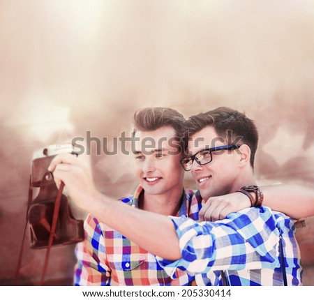 Two Gay Jeans Man Stock Photos, Illustrations, and Vector Art