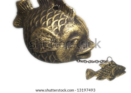 two bronze fishes