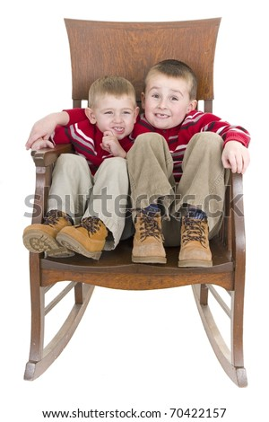 Two brothers share special bond - stock photo