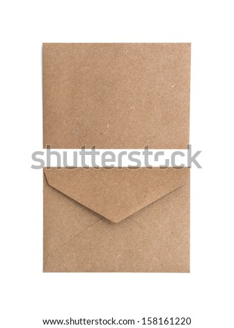 two brown envelope on a white background - stock photo
