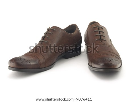 Two brown shoes