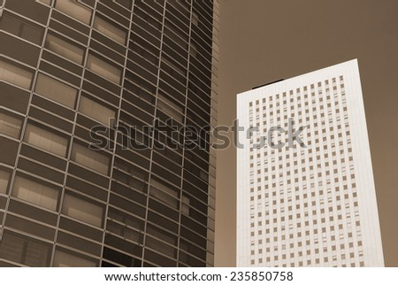 two Buildings - stock photo