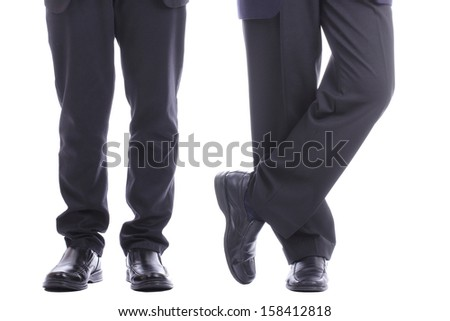 Two Businesman legs with clipping path