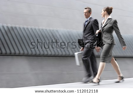 Two business colleagues in discussion - stock photo