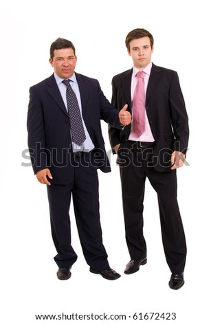 two business men full body, isolated on white