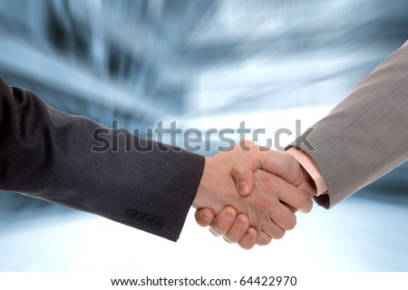 two business men handshake in office - Agreed on the deal