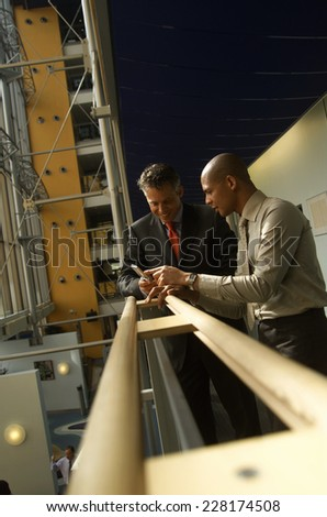Two business men talking - stock photo