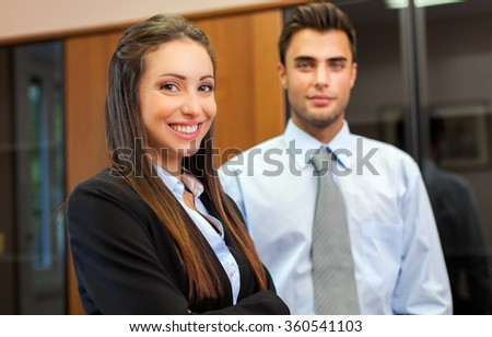 Two business partners in their office