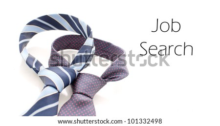 Two Business Ties and Space for Text - stock photo