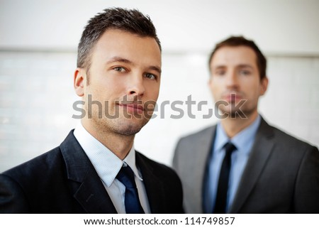 Two businessman, business team selective focus