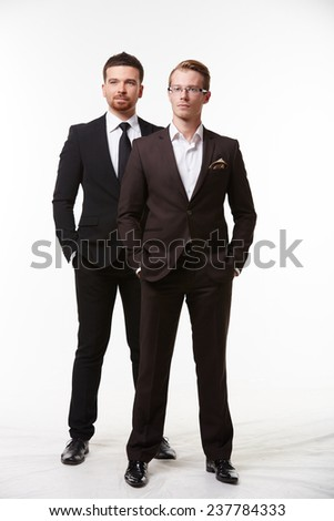 two businessman standing