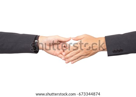 Two businessmans going to make handshake and deal for their business.