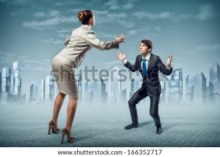 two businessmen fighting as sumoists, the concept of competition in business