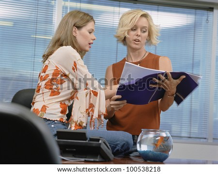 Two businesswomen working