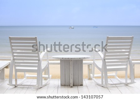 Two Chairs waiting to be occupied of you in your next vacation