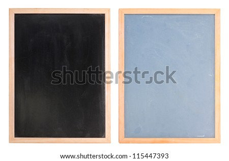 Two chalk boards isolates on white background