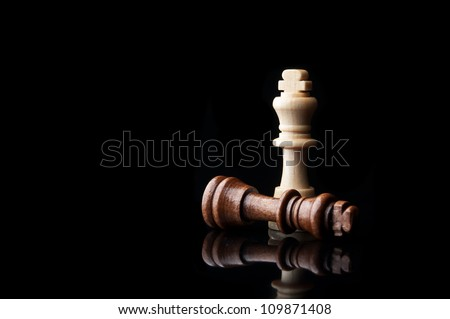 two chess king isolated on white background - stock photo