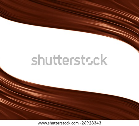 two chocolate waves - stock photo