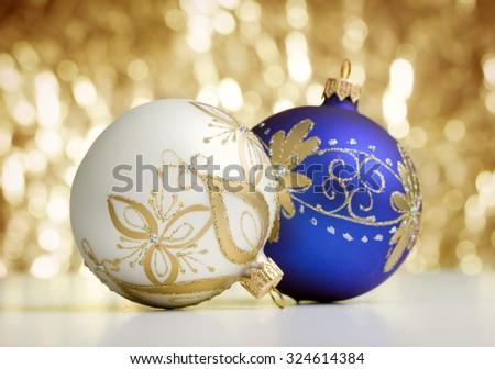 Two christmas balls - stock photo