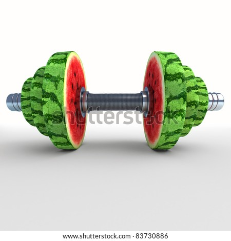 Two chrome dumbbells - stock photo