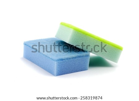 Two cleaning sponges - stock photo