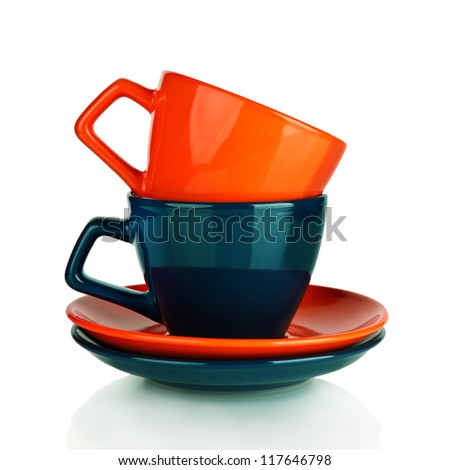 Two coffee cup - stock photo
