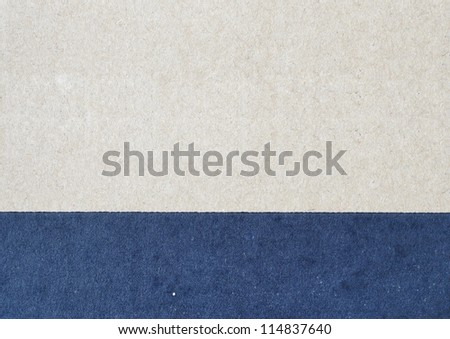 Two color of recycled cardboard texture - stock photo