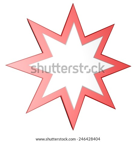 Two color star isolated over white, 3d render - stock photo