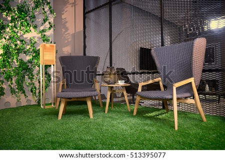 Garden Furniture On Grass artificial grass stock images, royalty-free images & vectors