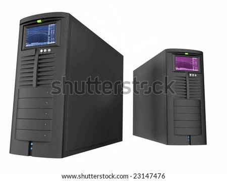 two computer cases on a table